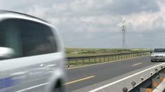 Cars going by on Autobahn - stock footage