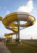 Water slide in aqua park Stock Photos