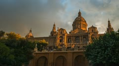 Catalunya National Museum of Art, Barcelona, Spain Stock Footage