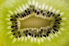 Kiwi fruit, macro. Stock Photos