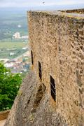 castle tower, abrantes - stock photo