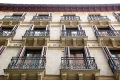 Stock Photo of house with balconies, madrid