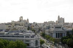 gran via, madrid - stock photo
