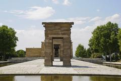 temple of debod, madrid - stock photo