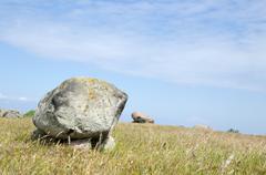 bright burial stones - stock photo