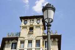 Stock Photo of house with lamp, madrid