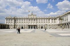 royal palace, madrid - stock photo