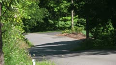 Up Hill Resedential Street in a North Carolina Mountain Neighbourhood Stock Footage