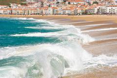 nazare, portugal - stock photo