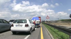 Stand still traffic on Autobahn Stock Footage