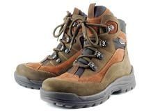 Pair of hiking boots.JPG Stock Photos