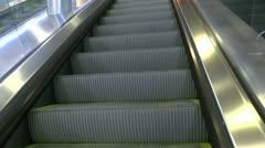 Step On Ride Escalator Stock Footage