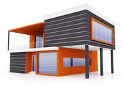 Exterior of modern house Stock Illustration