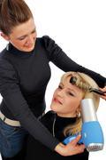 blow dry hair.jpg - stock photo