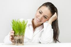support small plant  - stock photo