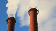The smoke from the chimney Stock Footage