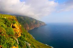 cliffs, madeira - stock photo