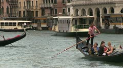 Gondola rides on Venice City canals Stock Footage