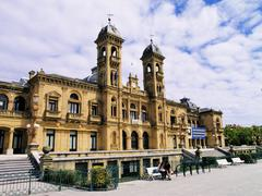 city hall, san sebastian(donostia), spain - stock photo