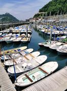 harbour in san sebastian(donostia), spain - stock photo