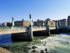 zurriola bridge, san sebastian(donostia), spain - stock photo