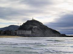 la zurriola beach, san sebastian(donostia), spain - stock photo