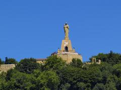 jesus monument, san sebastian(donostia), spain - stock photo