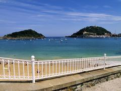 beach, san sebastian(donostia), spain - stock photo