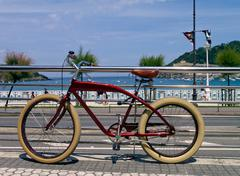 Bike in donostia - san sebastian Stock Photos
