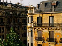 Fascade of building in donostia - san sebastian Stock Photos
