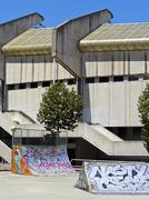 empty skate park in donostia - san sebastian - stock photo