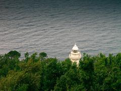 lighthouse in donostia - san sebastian - stock photo