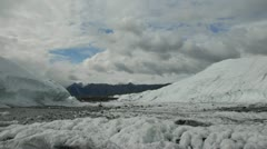 Wide timelapse of clouds over a glacier in Alaska, USA Stock Footage