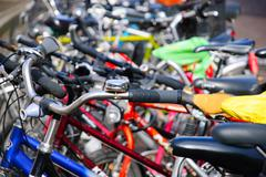 colorful bicylcles - stock photo