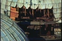 Saint Mark's Basilica, Venice, Italy, close up dome repair Stock Footage