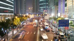 Shanghai Traffic Timelapse (HD) Stock Footage