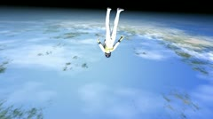 Space jump Stock Footage