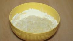Mixing Dough 001 Stock Footage