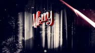 Merry Christmas different animation 2 Stock Footage