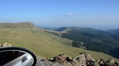 Mountain landscape seen from car - stock footage