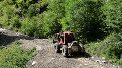 Hard vehicle in forest - stock footage