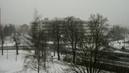 Stock Video Footage of snowfalling timelapse
