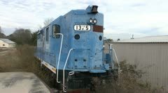 Front of Abandoned Train - stock footage
