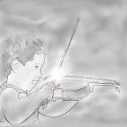 Baby Violinist Stock Illustration