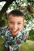 child tween laugh - stock photo