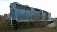 Back of Abandoned Train Stock Footage