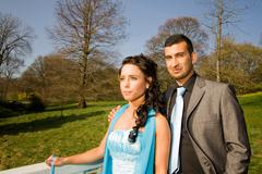 turkisk ethnic engagement wedding couple - stock photo