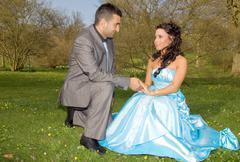 turkisk ethnic engagement wedding couple - stock photo