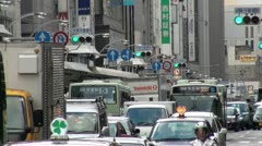 Congestion in downtown Kyoto, Japan Stock Footage