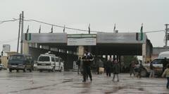 Azaz Border Syria Stock Footage